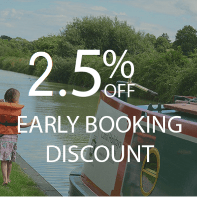 2.5% Early Booking Discount