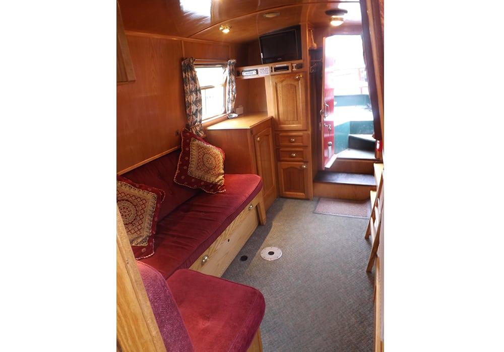 Inside Foxglove saloon - A Foxhangers Canal Holidays Narrowboat