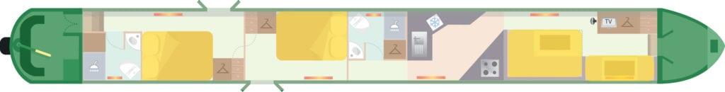 Foxtalbot Floor plan beds