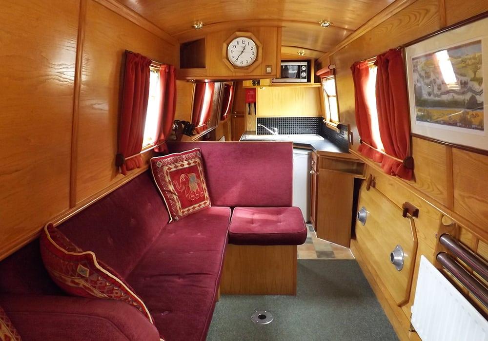 Foxtalbot narrowboat interior