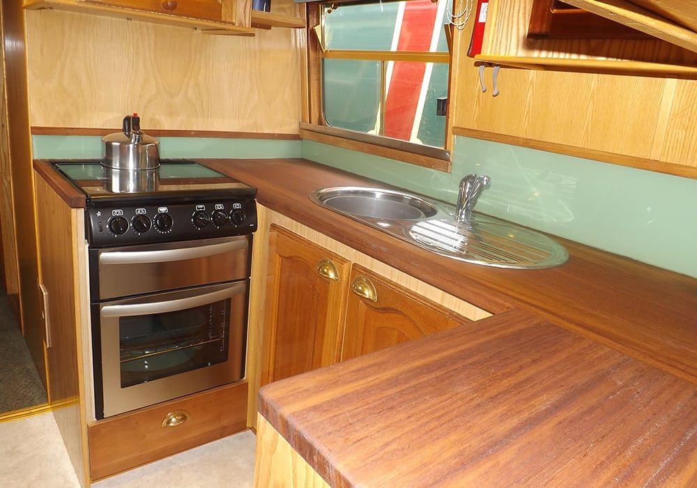 Foxglacier interior narrowboat