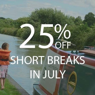 25% OFF SHORT BREAKS IN JULY