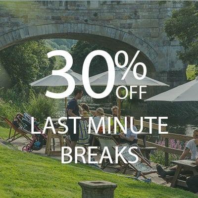 30% OFF last minute canal breaks