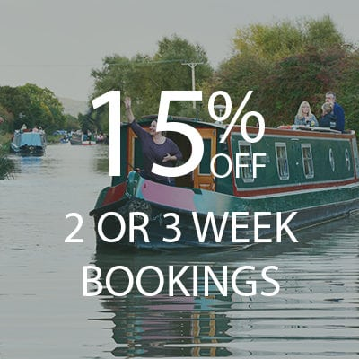 Save 15% Off Canal Barge Holidays