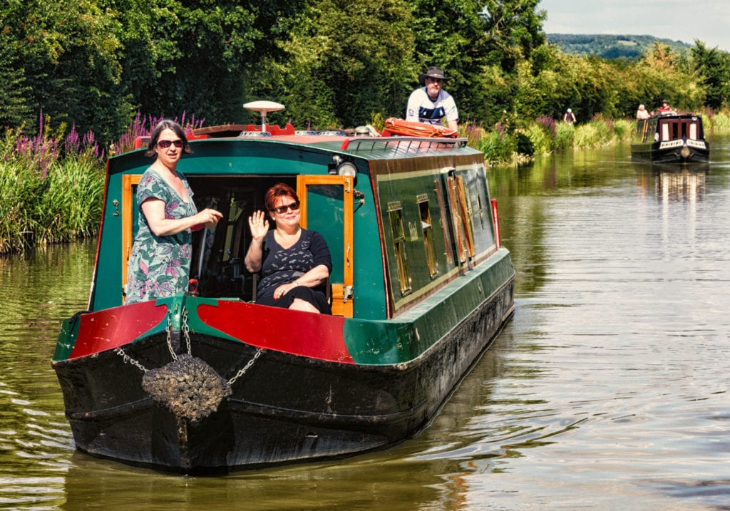 canal boating over seas