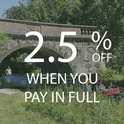 2.5% PAY IN FULL