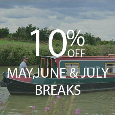 10% MAY,JUNE & JULY BREAKS