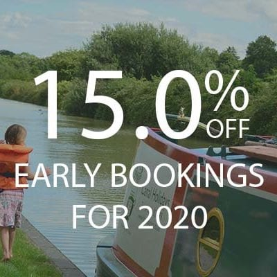 15% OFF early bookings for 2020