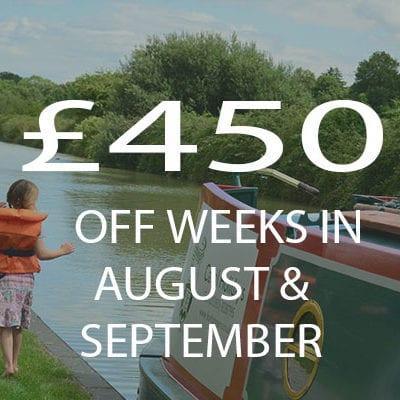 £450 weeks Aug & Sept