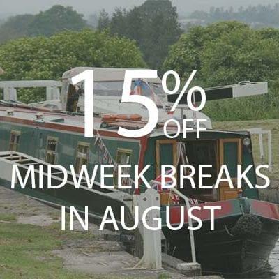15% AUGUST MIDWEEKS