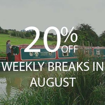 20% OFF AUGUST WEEKS