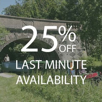 25% OFF LAST MINUTE AVAILABILITY