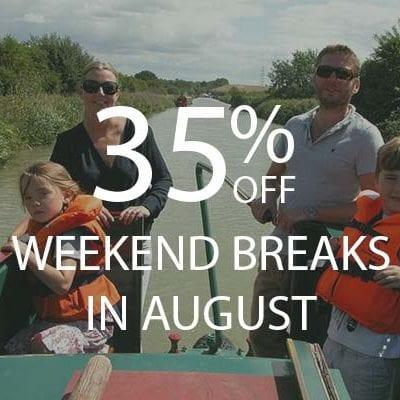 35% AUGUST WEEKENDS