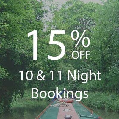 15% 10 & 11 NIGHT BOOKINGS